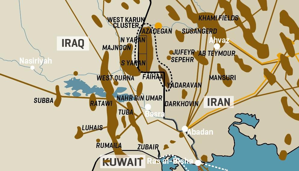 Iran/Iraq Border Oil Fields