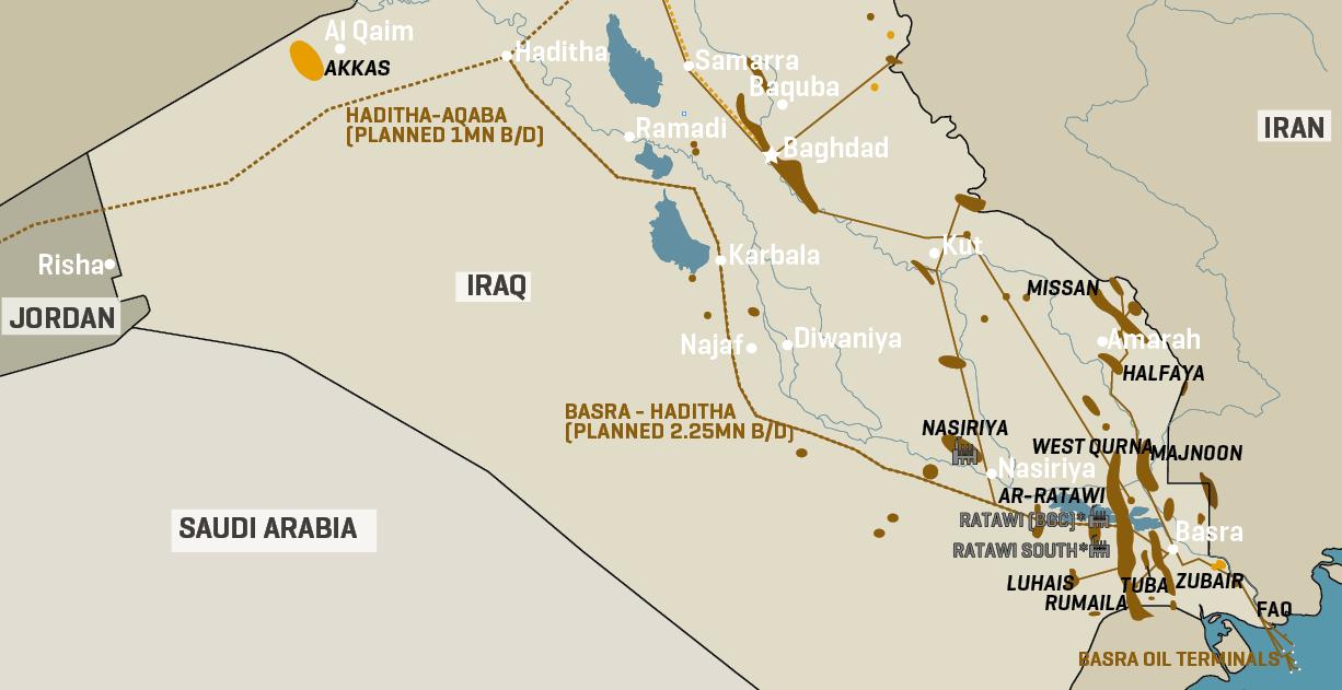 Iraq Oil Fields & Infrastructure