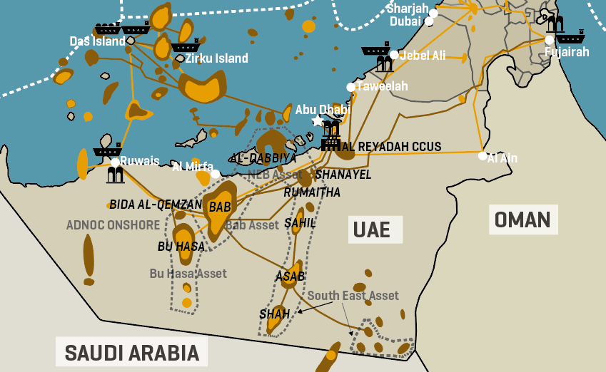 Adnoc Key Onshore Oil Infrastructure