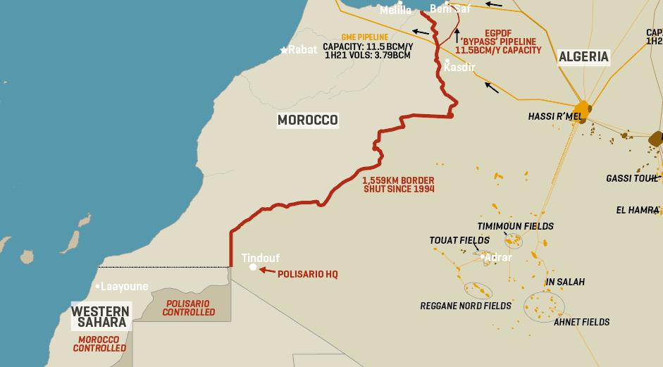 Algeria's Gas Export Routes