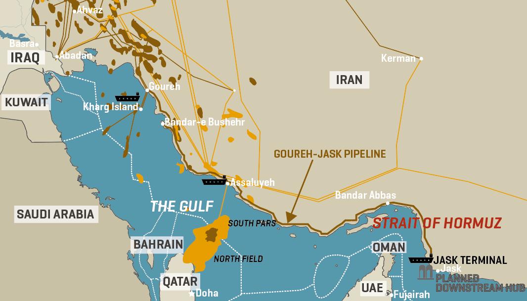 Iran: Key Oil Export Infrastructure