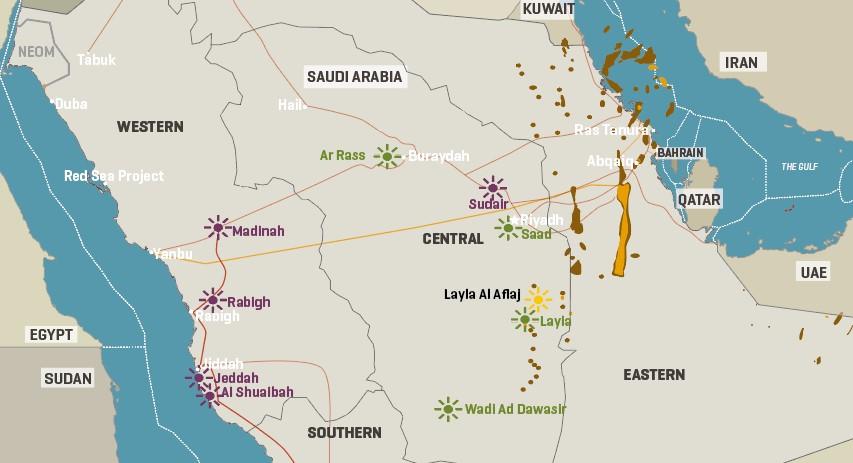 Saudi Arabia: Key Power Infrastructure