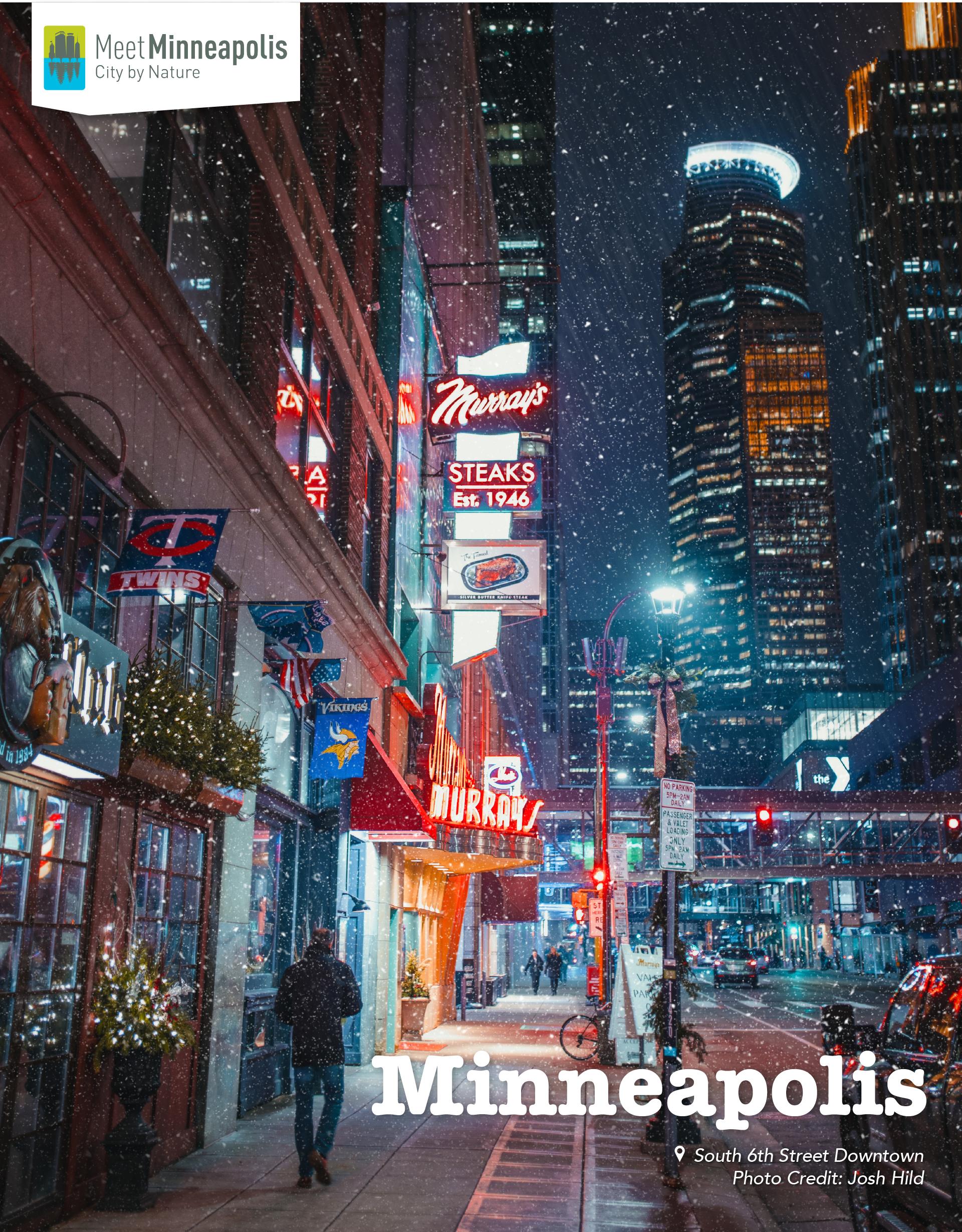 downtown snowy minneapolis
