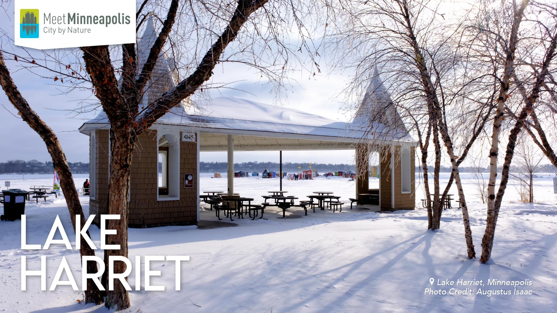 lake harriet in winter