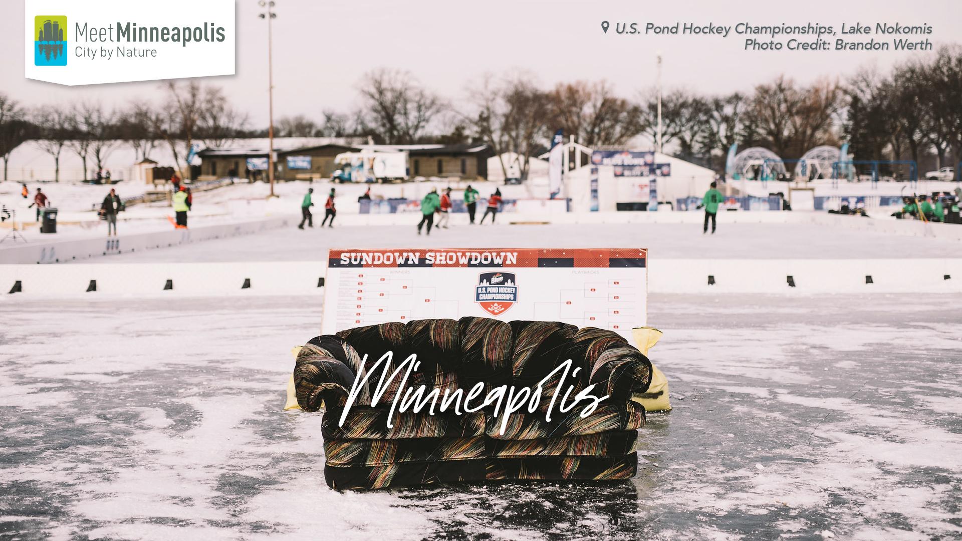 U.S. pond hockey championships on lake nokomis