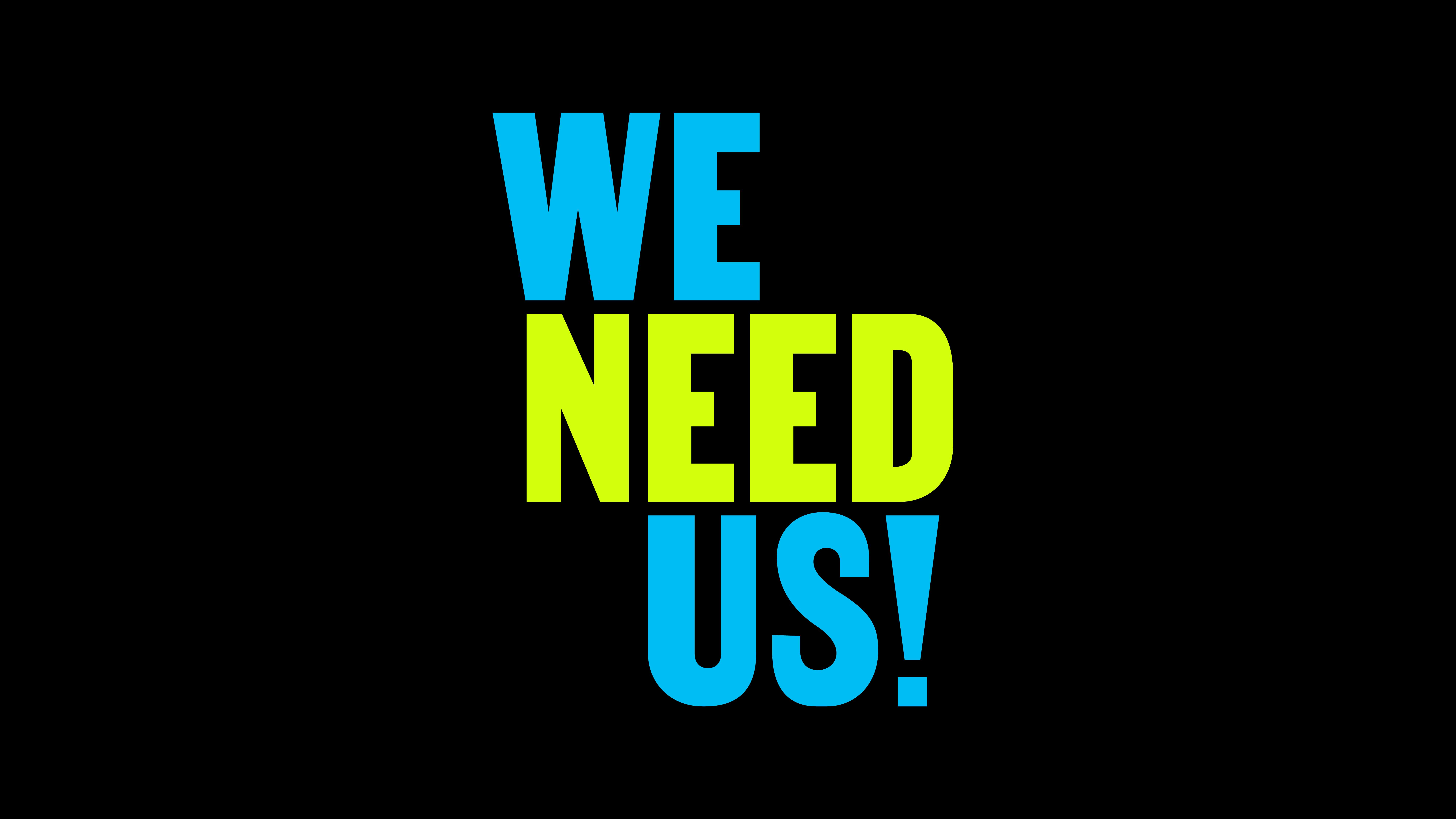 we need us logo