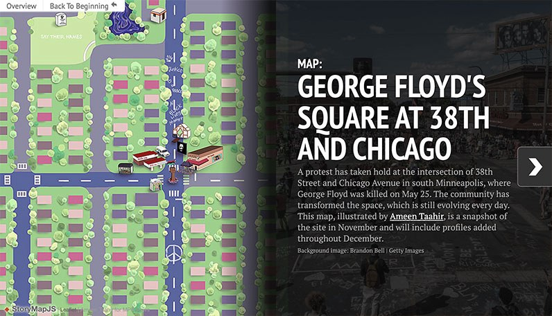 map of george floyd square
