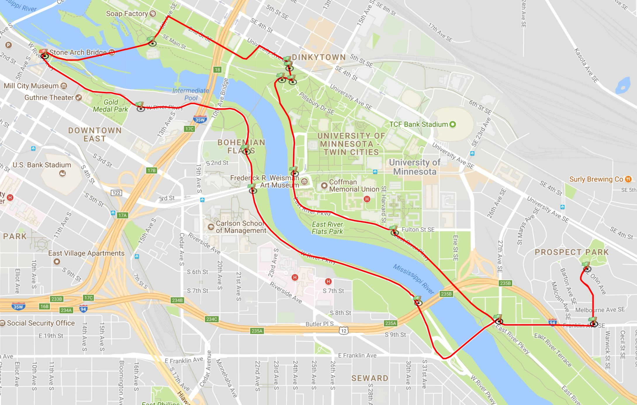 The Most Scenic Bike Routes in Minneapolis | Meet Minneapolis Downtown Minneapolis Map on
