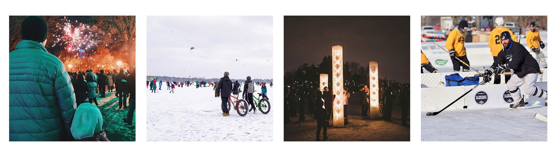 collage of minneapolis events in the winter