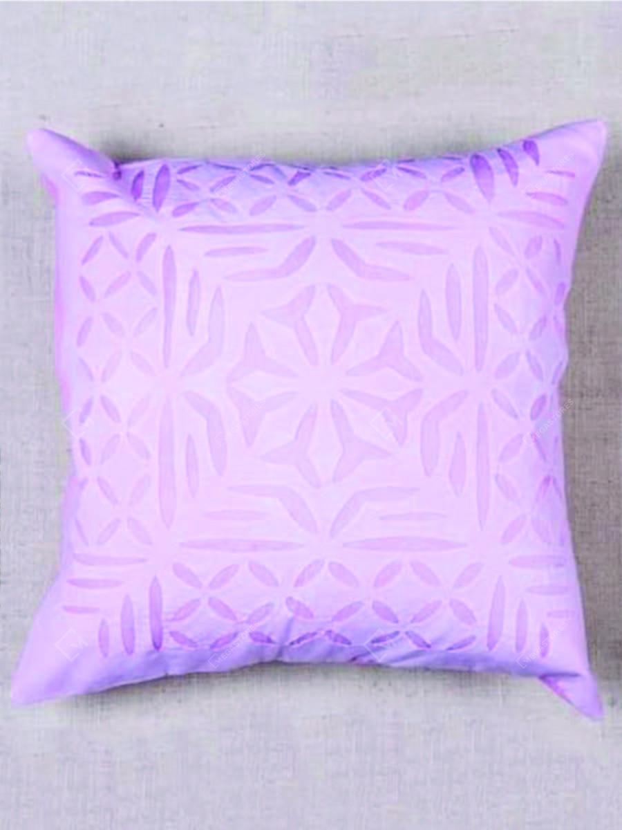 Purple Applique Work Cotton Cushion Cover by Marudhara