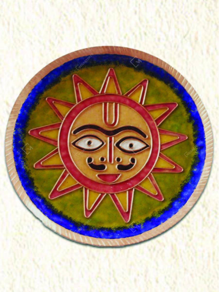 Copper Enamel Sun Wall Plate by Copper Enamel Art & Crafts