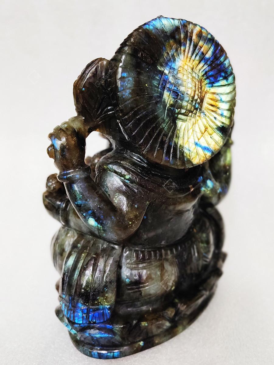 Labradorite Natural Gemstone Ganesha Carving by Priya Handicrafts