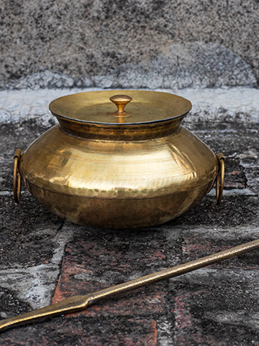 Handcrafted Brass Patili and Karchi by P-tal