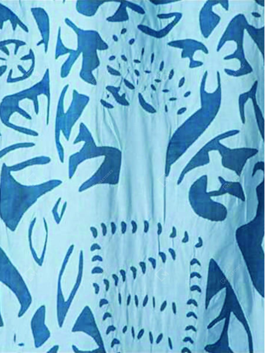Blue Applique Queen Cotton Curtain by Marudhara