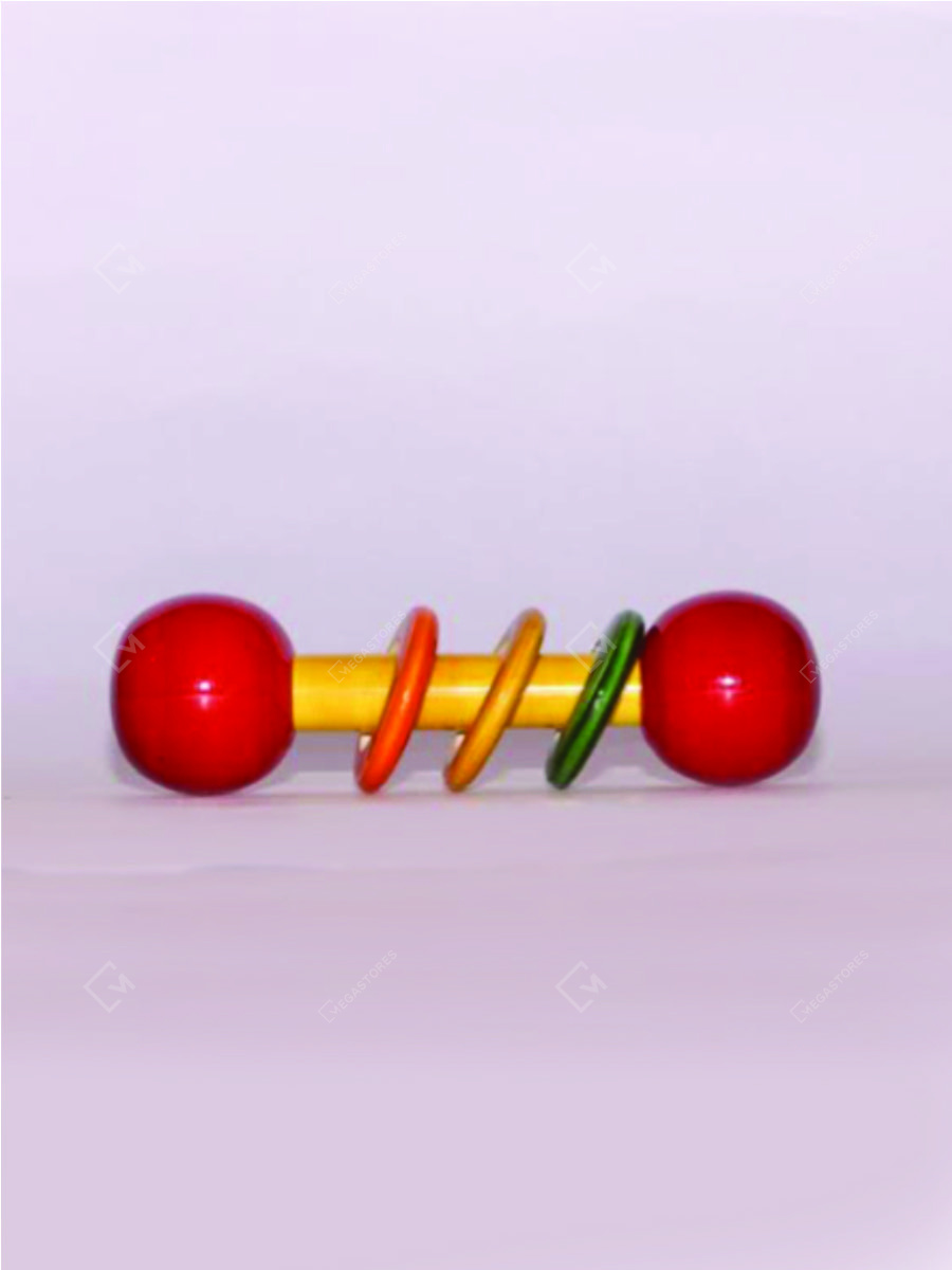 Handcrafted Wooden Dumble Rattle by Adiba Handicrafts