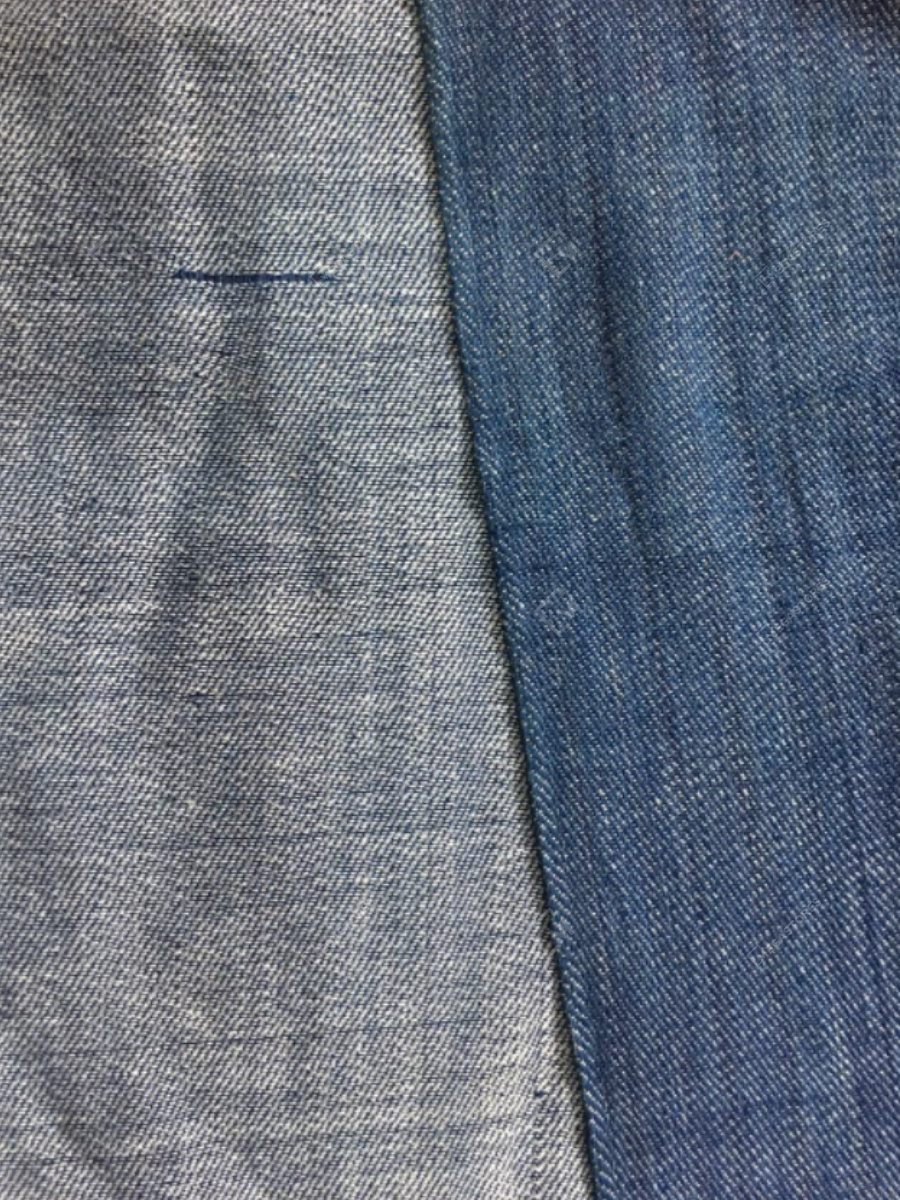Handwoven Blue Cotton Fabric for Light Upholstery by Shabnam Weaves