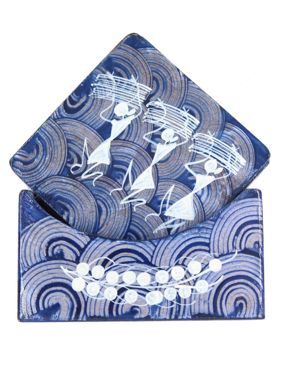 Warli Art SHG Blue Tea Coasters