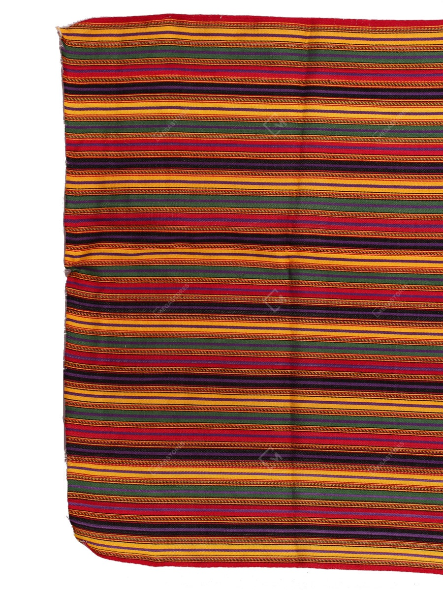 Srusati Handicraft Multi Color stripped Handwoven Mashru fabric
