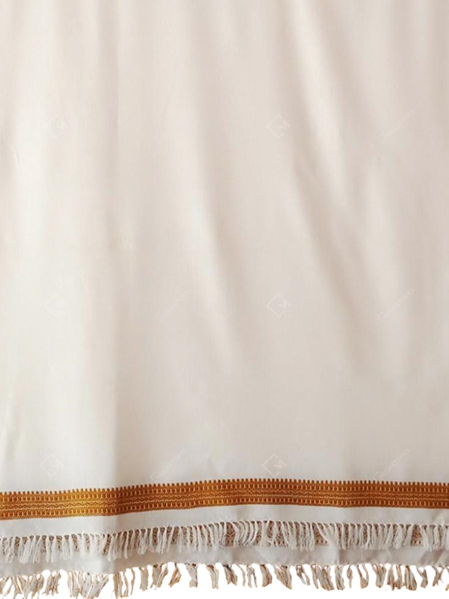 Dayna Woolen off white Handwoven shawl by Suresh Vankar Parbat