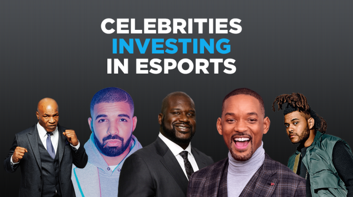 A list of celebrities that invested in Esports recently.