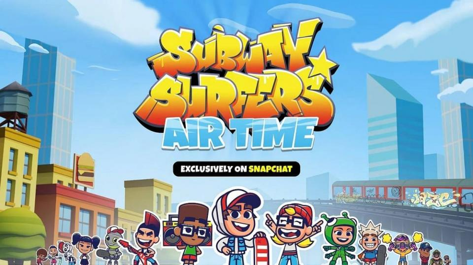 Subway Surfers Airtime Is Snapchat's Latest Mobile Game That Includes Multiplayer Support