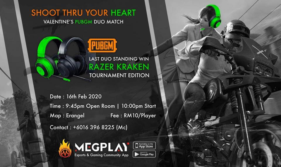 Razer Pay x MEGPlay V-Day Iconic DUO: PUBGM with loved one & win Razer Kraken