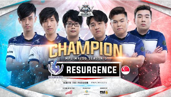 Resurgence SG are Season 5 winners of MPL Malaysia/Singapore