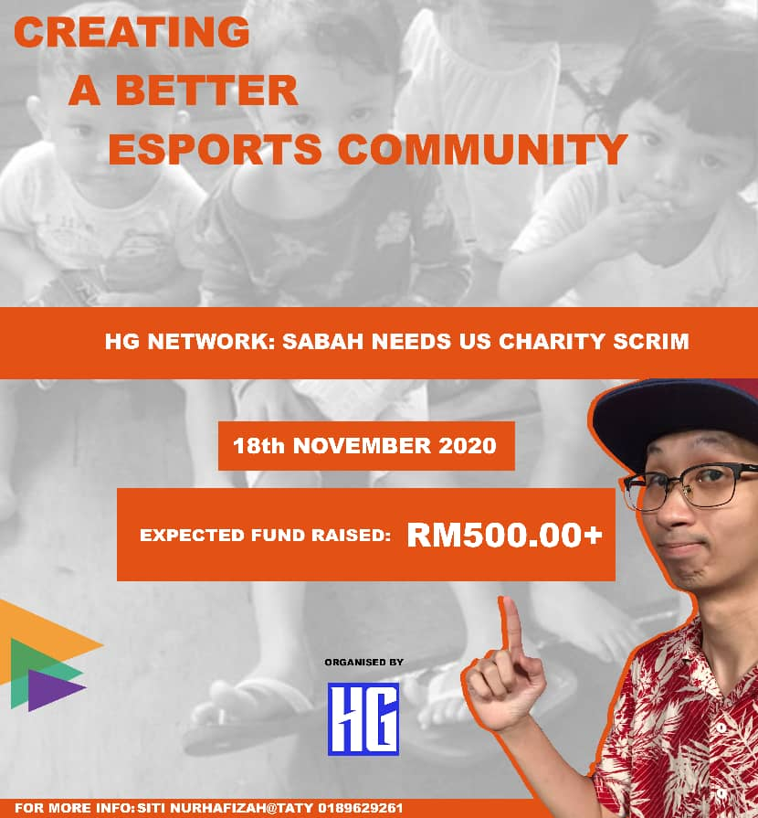 Watch the PUBG Mobile Charity Scrim for Sabah tomorrow!