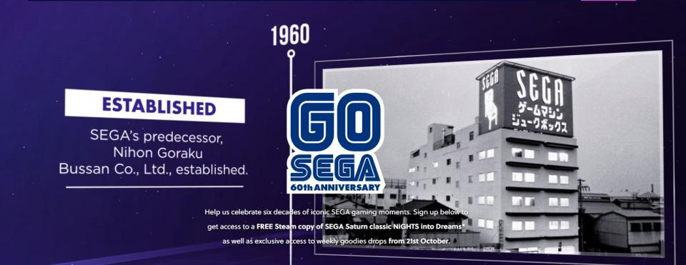 SEGA giving away free games on it's 60th Anniversary