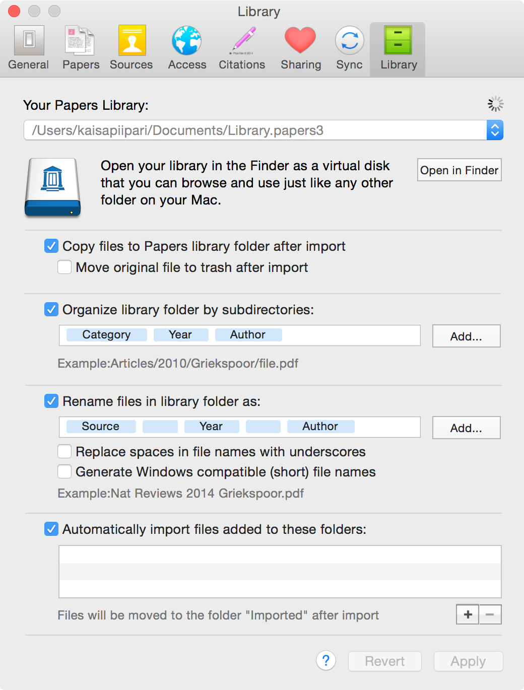 Papers allows you to rename your PDF files