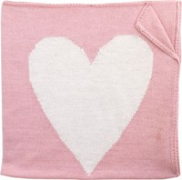 Hand Knit Heart Alpaca Blanket
