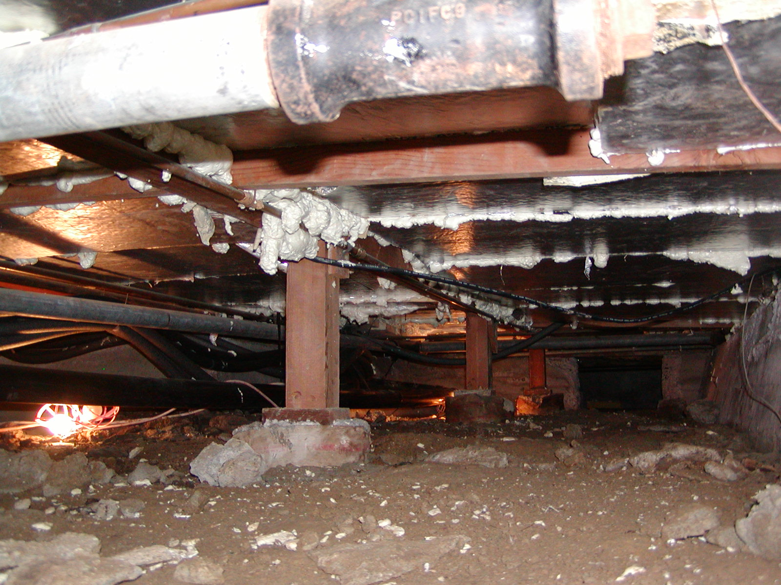 39 safe practices for home inspectors 39 course page 756 for Crawl space plumbing