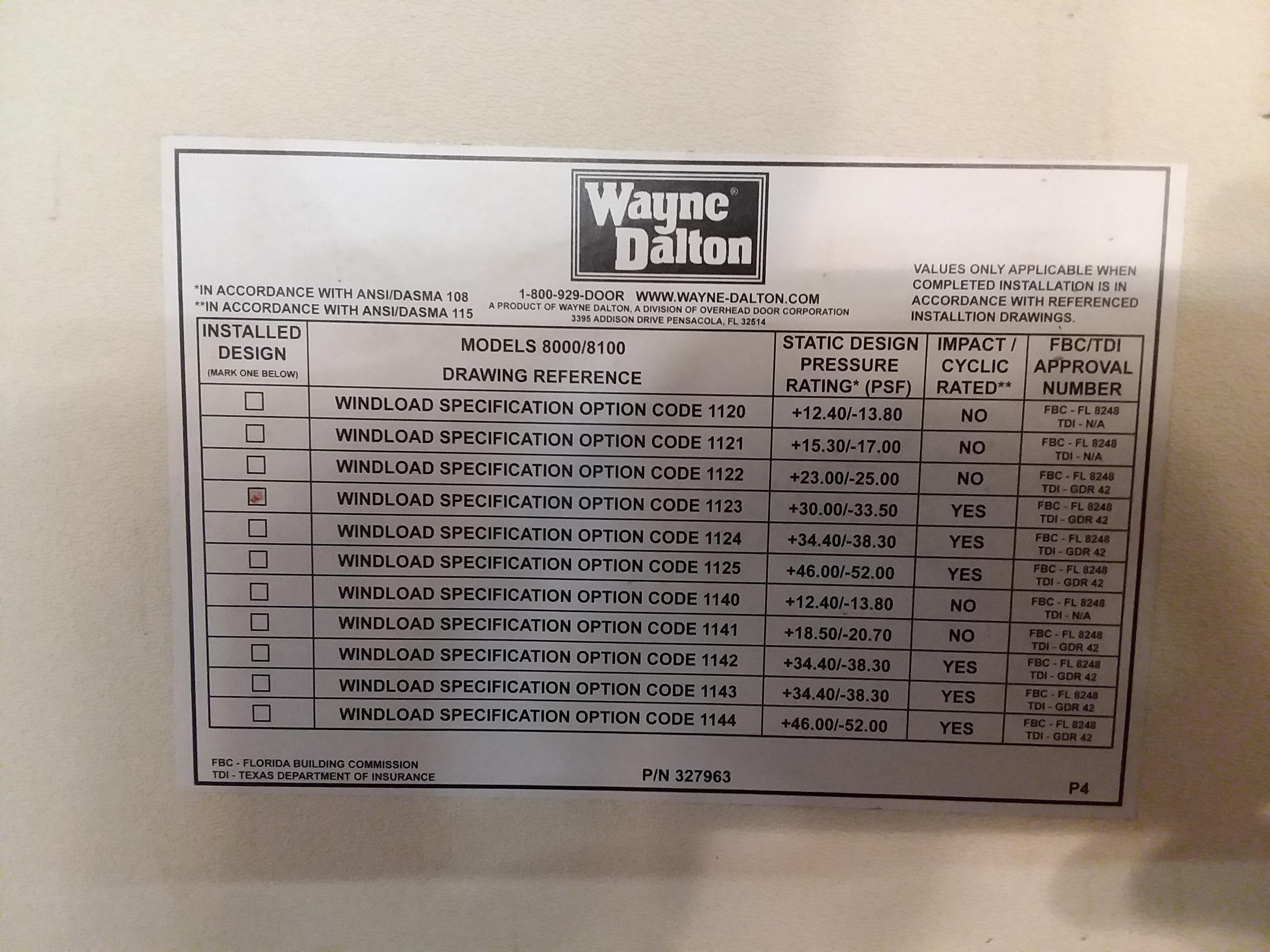 How to perform wind mitigations page 141 internachi for Garage door wind code ratings