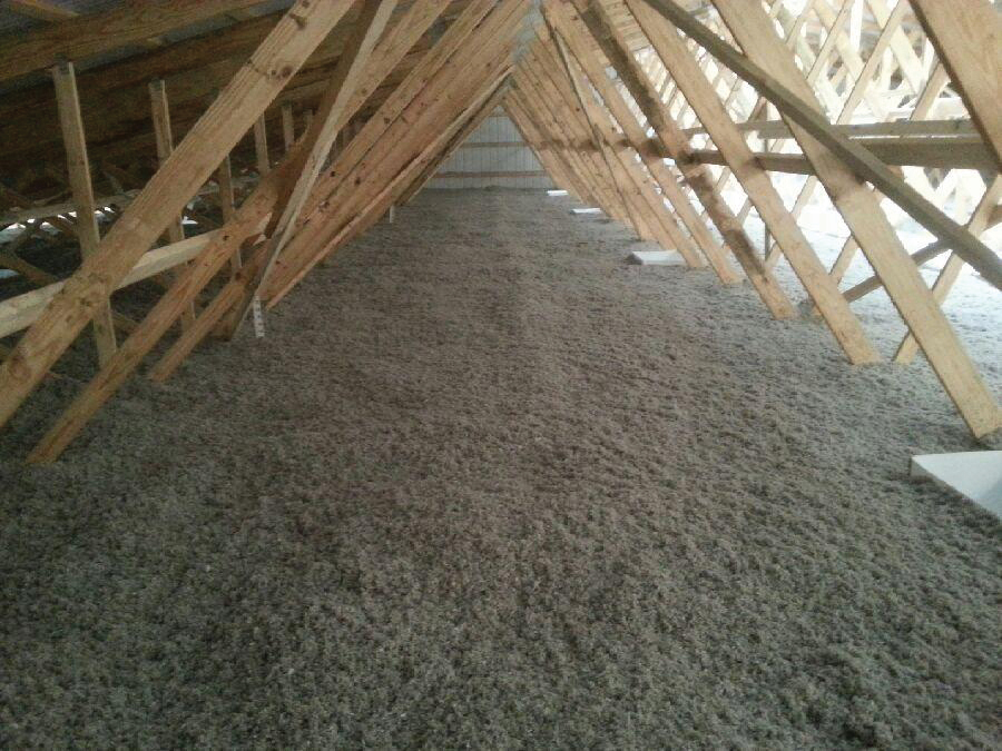 How to inspect the attic insulation ventilation and for Rockwool blown insulation
