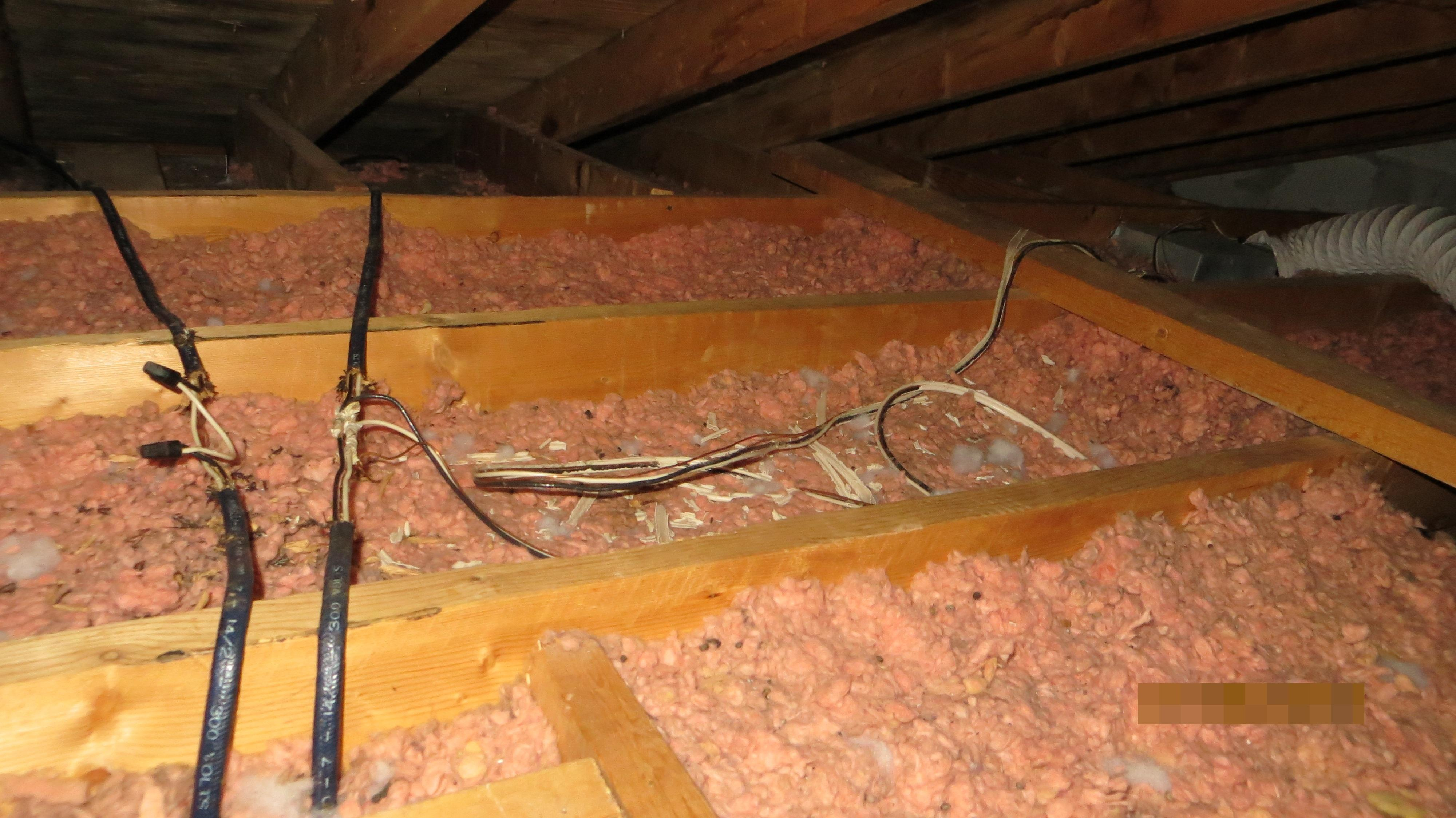 How to inspect the attic insulation ventilation and for Loose fill fiberglass insulation