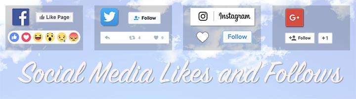 Social media likes and follows
