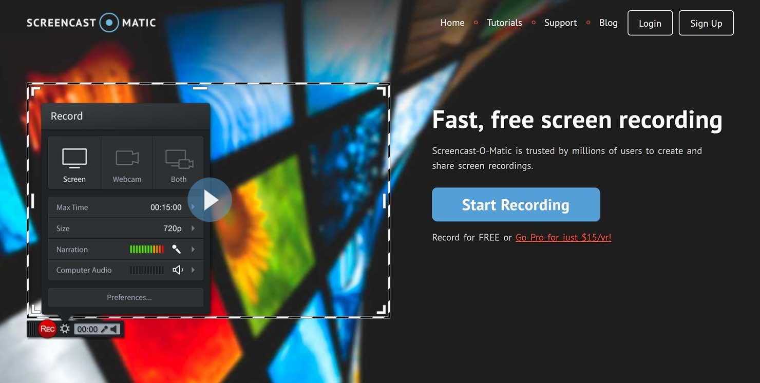 Create a screencast video