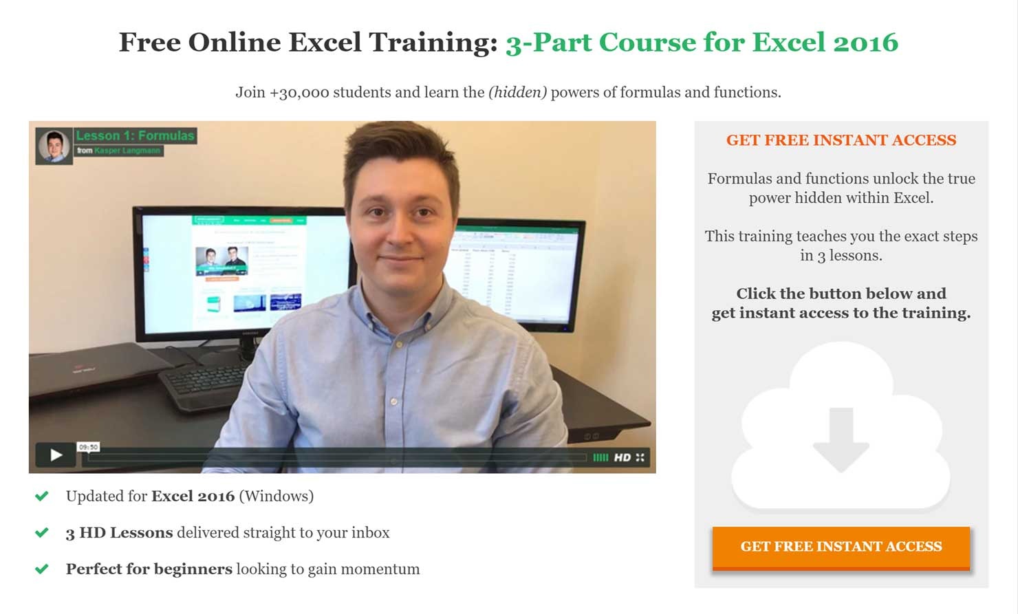 Create free video courses