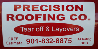 Website for Precision Roofing Company