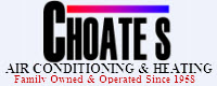 Website for Choate's Air Conditioning, Heating & Plumbing