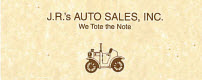Website for J.R.'s Auto Sales, Inc.