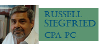 Website for Russell A. Siegfried, CPA, PC