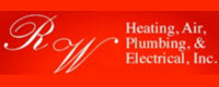 Website for RW Heating, Air, Plumbing & Electrical, Inc.