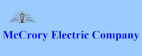 Website for McCrory Electric Company, Inc.