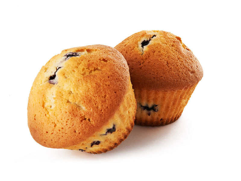 Pair of blueberry muffins