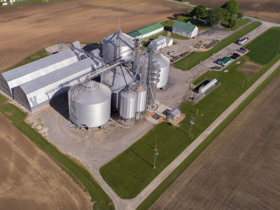 The Farm Elevator is located in Upper Sandusky, Ohio