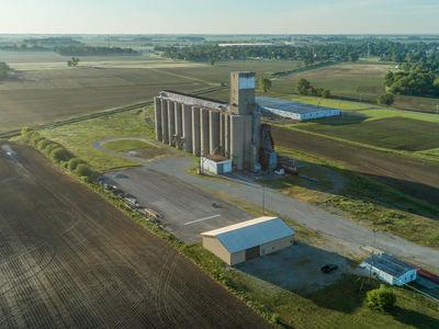 Aerial view of Jeffersonville Grain Elevator