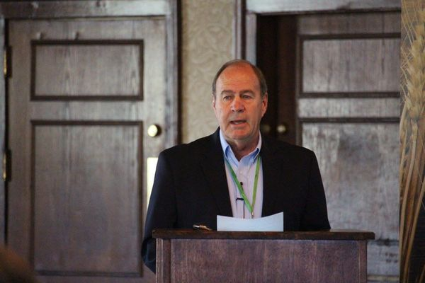 Don Mennel addressed attendees of industry conference