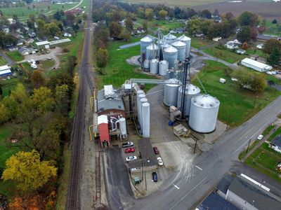 Aerial view of Mt. Olive Flour Mill
