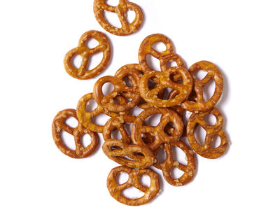 A pile of pretzels